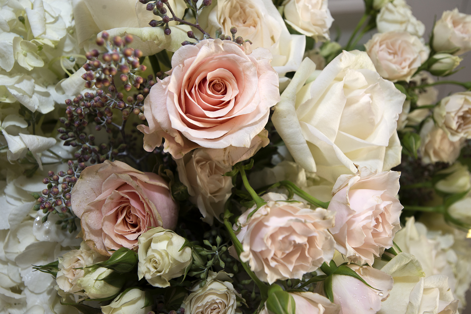 The flowers at Connie and Peter's wedding were stunning.